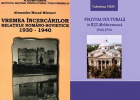 Semnale editoriale: POLITICA CULTURALĂ în RSS Moldovenească 1944-1956, de Valentina URSU și VREMEA INCERCARILOR. Relațiile româno-sovietice 1930-1940, apărută la INST