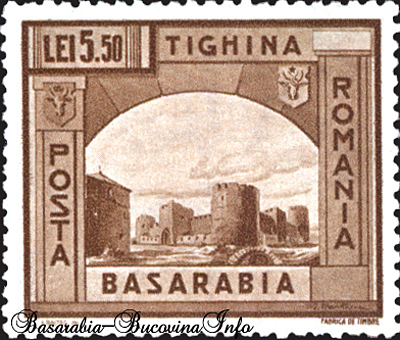 Timbre interzise cu manastiri si cetati romanesti din Basarabia si Bucovina