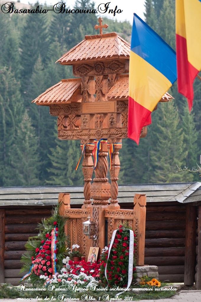 Troita-de-la-Putna-ridicata-in-cinstea-martirilor-de-la-Fantana-Alba-2011-70-de-ani - Basarabia-Bucovina.Info