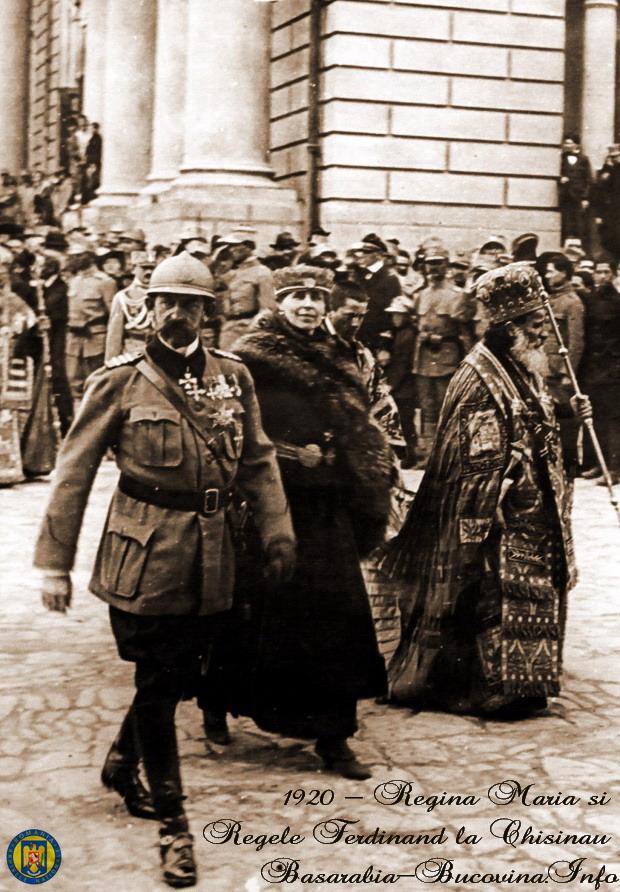 13 Regele Ferdinand si Regina Maria la Chisinau 1920 - Basarabia-Bucovina.Info