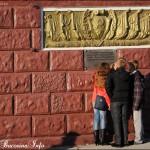 Copii si insemne comuniste pe strazile din Tiraspol, Transnistri