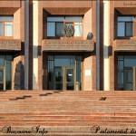 Intrarea in Parlamentul din Tiraspol, Transnistria. CRISTINA NIC