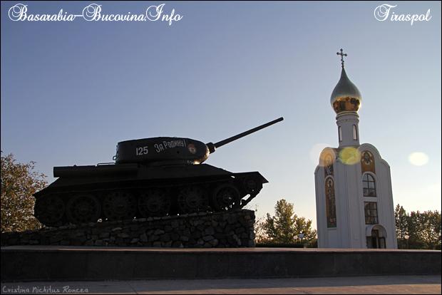Tancul sovietic, capela si monumentul eroilor transnistreni, Tir