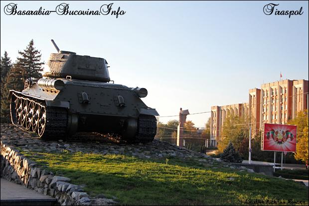 Tancul sovietic, Lenin si Parlamentul din Tiraspol, Transnistria