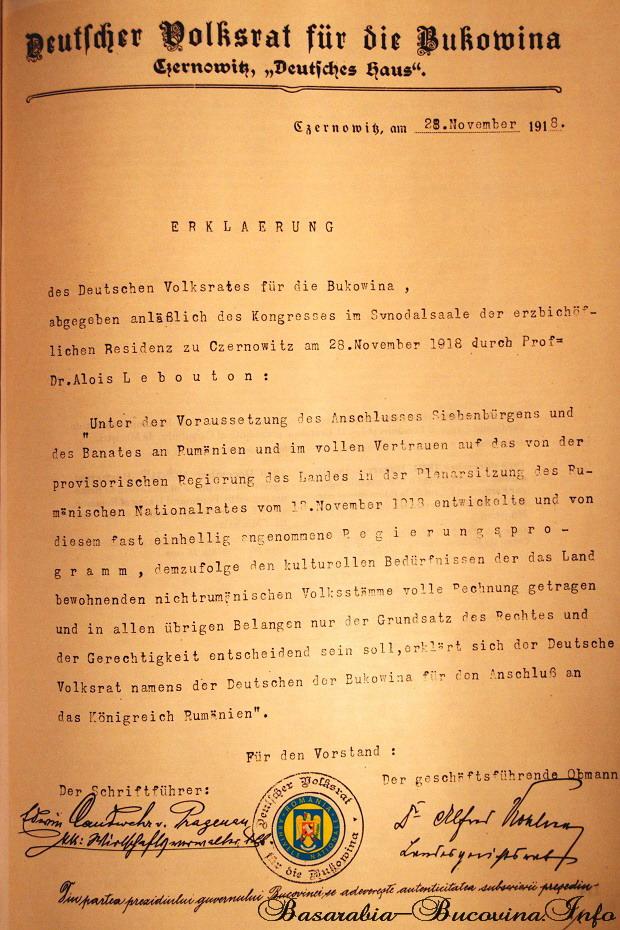 6 Adeziunea comunitatii germane la Unire 1918 - Basarabia-Bucovina.Info