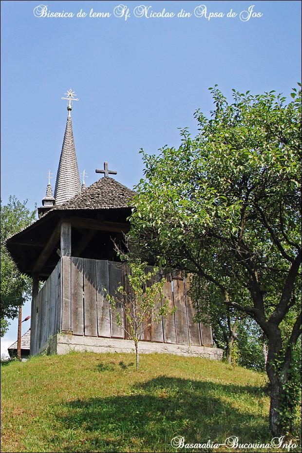 11 Biserica de Lemn din Apsa de Jos - 1561- Maramuresul Istoric - Transcarpatia -Basarabia-Bucovina.Info