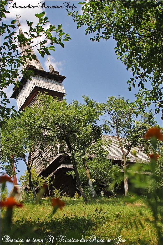 13 Biserica de Lemn din Apsa de Jos - 1561- Maramuresul Istoric - Transcarpatia -Basarabia-Bucovina.Info