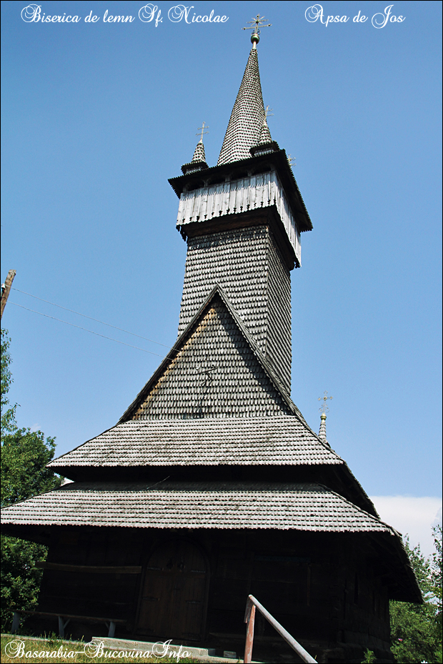 6 Biserica de Lemn din Apsa de Jos - 1561- Maramuresul Istoric - Transcarpatia -Basarabia-Bucovina.Info