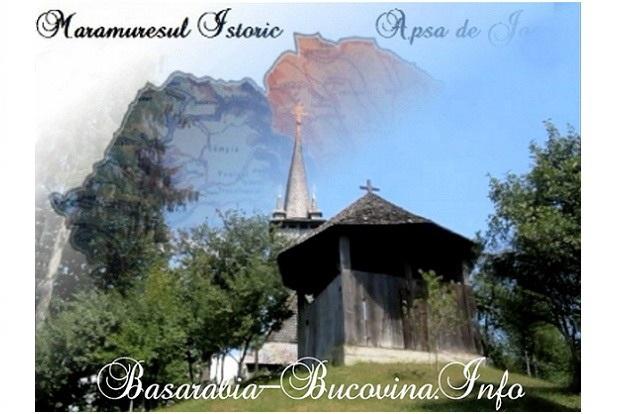 Maramuresul Istoric - Biserica de lemn din satul Apsa de Jos - Basarabia-Bucovina.Info