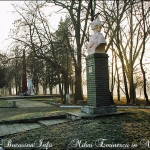 Statuia lui Mihai Eminescu din satul Noua Sulita, regiunea Cerna