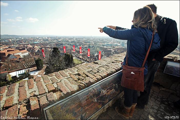 6 Panorama orasului dinspre Schlossberg, Graz, Austria - foto Cristina Nichitus Roncea