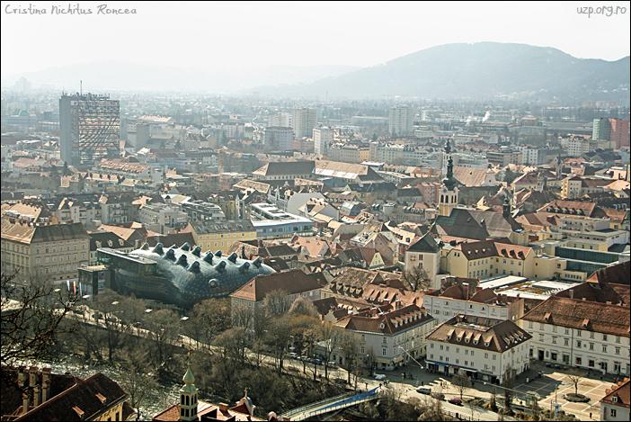 7 Panorama dinspre Schlossberg a orasului Graz, Austria - foto Cristina Nichitus Roncea