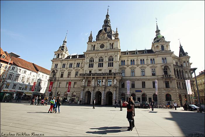 8 Hauptplaz - Primaria orasului Graz, Austria - foto Cristina Nichitus Roncea - Premiile Uniunii Ziaristilor Profesionisti pentru Basarabia-Bucovina.Info