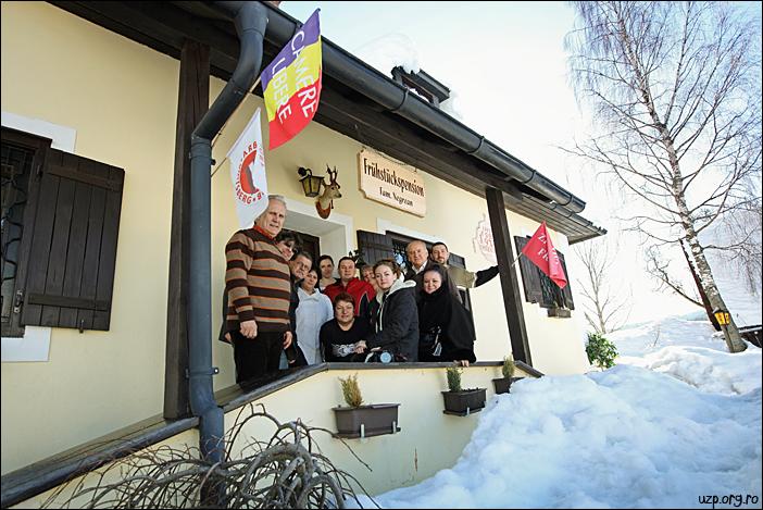 Delegatia UZP Doru Dinu Glavan, Michaela Bocu, Benone Neagoe, Victor Roncea - foto Cristina Nichitus Roncea