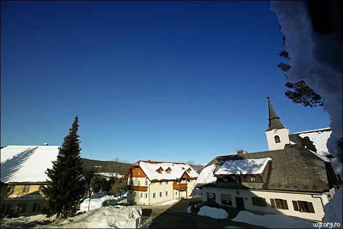 Panorama din Pensiunea Familiei Negrean din satul Modriach - langa Graz, Austria - foto UZP Cristina Nichitus Roncea