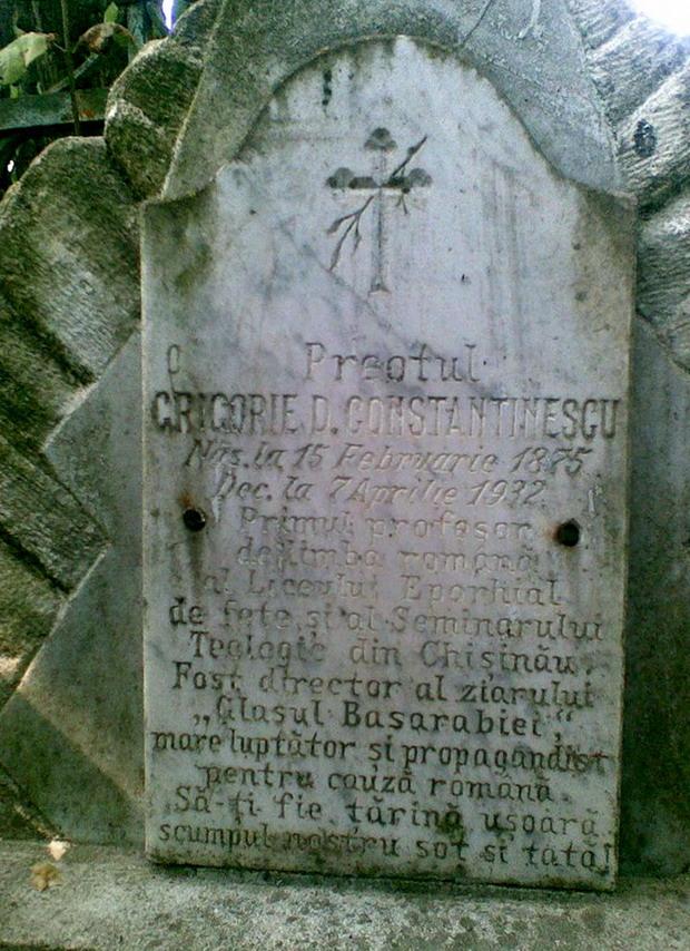 9 Napadeni - Epitaf la Mormantul Pr ziarist Grigore Constantinescu - Glasul Basarabiei - Basarabia-Bucovina.Info