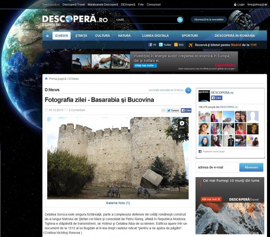 Descopera Ro Fotograia Zilei Basarabia-Bucovina.Info