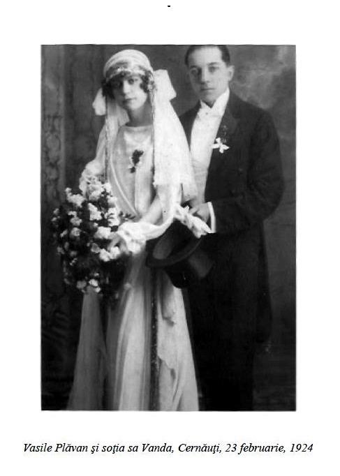 Vasile Plavan si sotia sa Vanda - Cernauti - 23 feb 1924 - Basarabia-Bucovina.Info