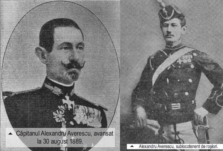 Alexandru Averescu la 30 august 1889 - Capitan si in 15 iulie 1881 Sublt rosior