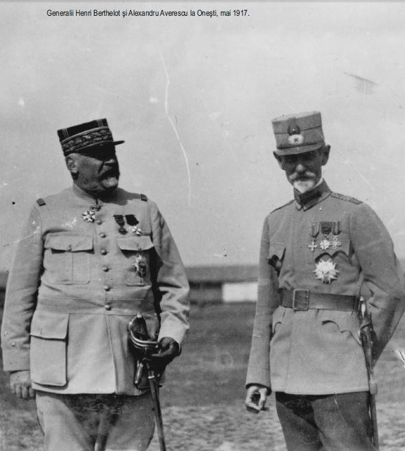 Generalii Henri Berthelot si Alexandru Averescu la Onesti mai 1917 - Basarabia-Bucovina.Info
