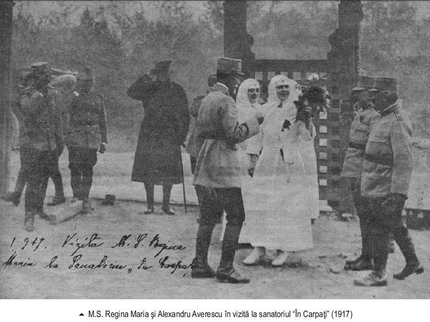 Maresalul Alexandru Averescu si Regina Maria la Sanatoriul In Carpati 1917 - Basarabia-Bucovina.Info