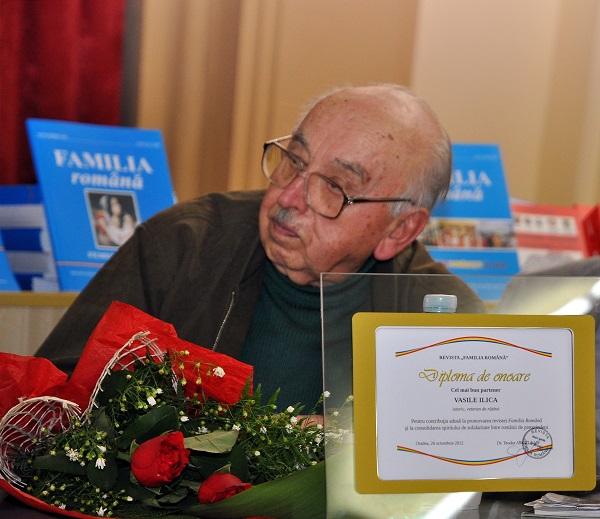 Dl Vasile Ilica distins de Familia Romana - Foto Gheorghe Petrila - Basarabia-Bucovina.Info