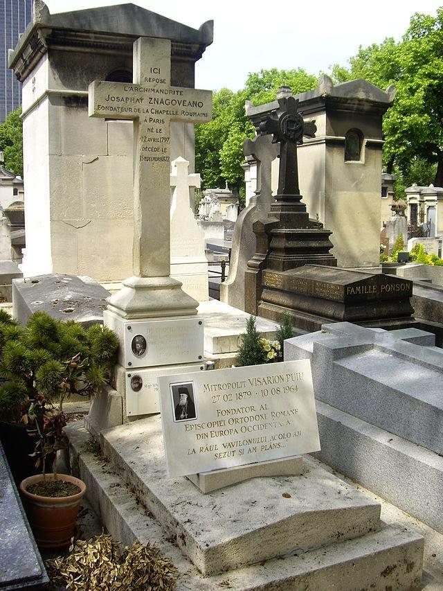 Mormantul Mitropolitului - Tombe_Visarion_Puiu,_Cimetière_du_Montparnasse Basarabia-Bucovina.Info