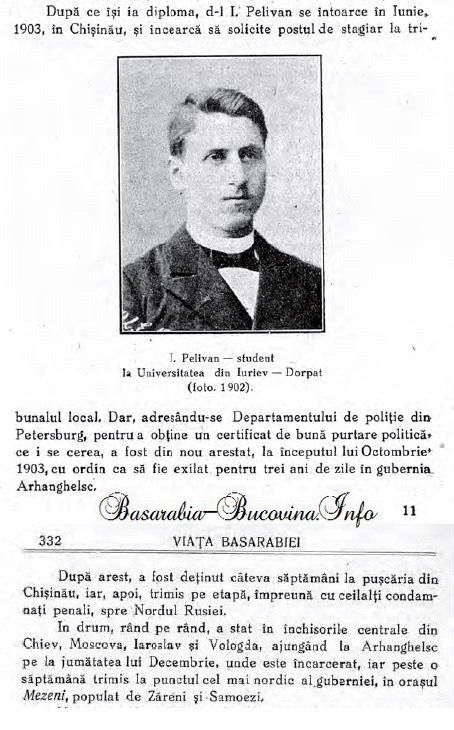 Despre incarcerarea lui Ioan Pelivan in 1903 si deportarea lui in Siberia - Basarabia-Bucovina.Info