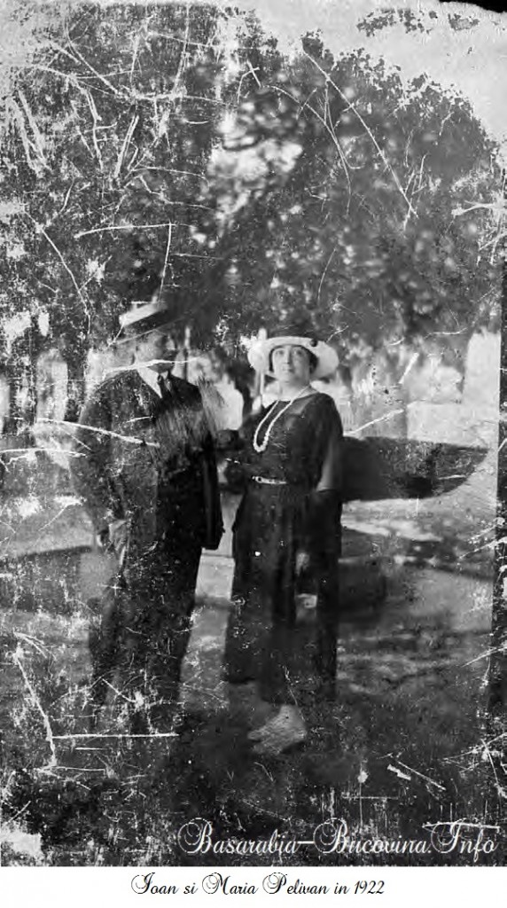 Ioan si Maria Pelivan in 1922 - Basarabia-Bucovina.Info