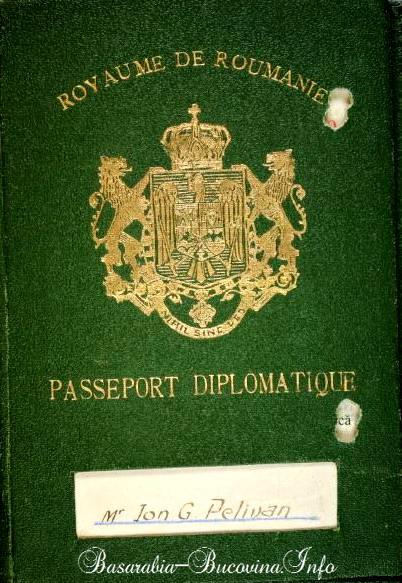 Pasaportul diplomatic al lui Ioan Pelivan  - Basarabia-Bucovina.Info - CNSAS