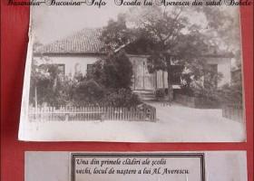 Placa comemorativa de la scoala Maresalului Averescu din Babele sta la umbra. Foto-Reportaj